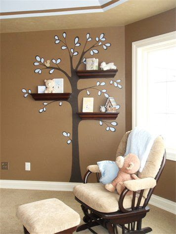 love the shelves as tree branches