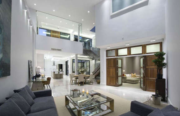 It's completely deceptive from the outside, but when you step inside you realize why the property has a $6.4 million (£4.5m) price tag with a living space like this.