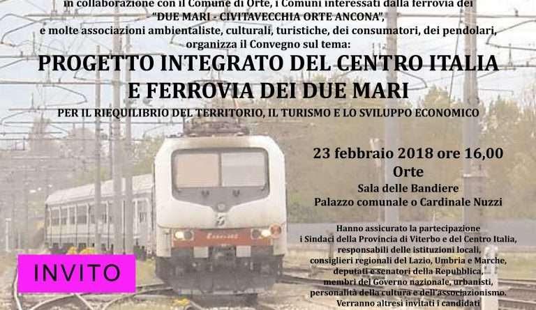 Risultati immagini per orte convegno  ferrovia dei due mari 23 febbraio 2018