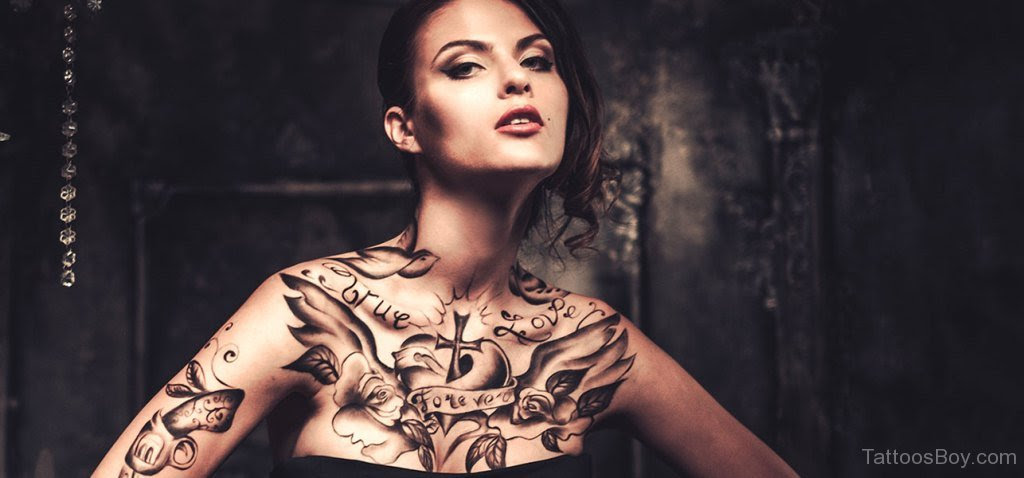 Stylish Chest Tattoo Tattoo Designs Tattoo Pictures