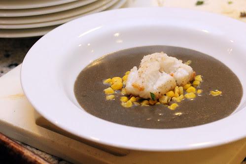 Huitlacoche-monkfish chowder