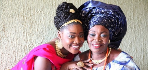 Image result for mercy johnson and her mom