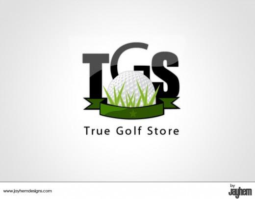 True Golf Store logo design