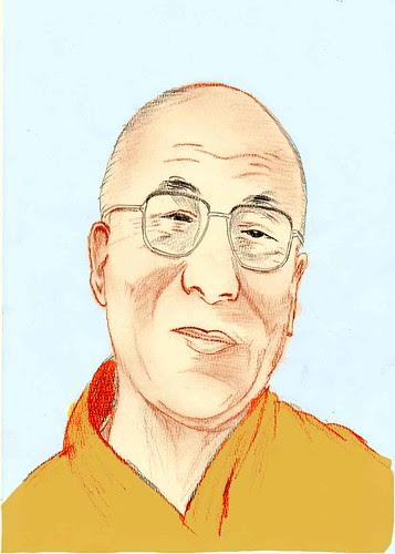 DalaiLama by Daniel Vinhas - Desenhos e Rabiscos