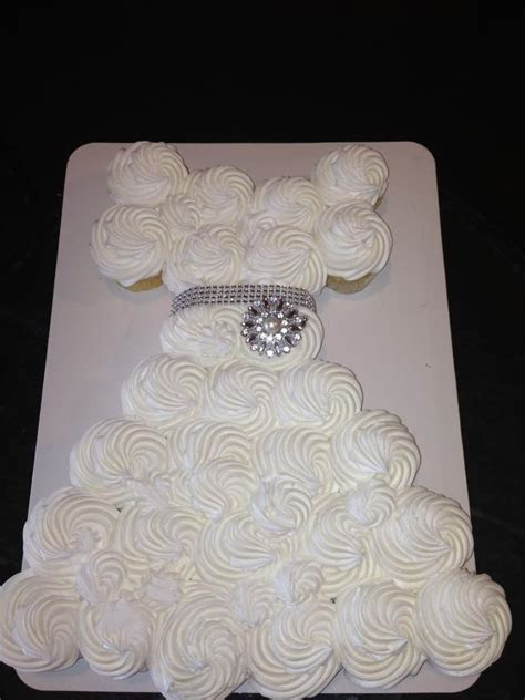 Wedding dress cupcakes for bridal shower   Bachelorette