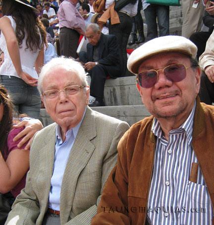Javier Pérez de Cuellar y Juan Ossio en Acho