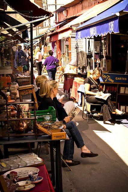 Les Puces de Saint-Ouen, the worlds largest flea market, Paris, France