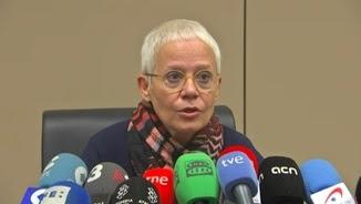 La fiscal en cap de Barcelona, Ana Magaldi, en la roda de premsa que ha convocat aquest dimarts