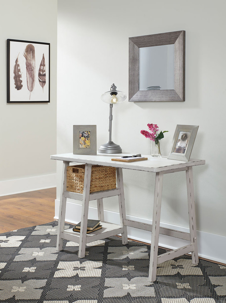 The Mirimyn Antique White Home Office Small Desk Available At