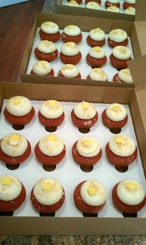 red velvets with gold stars