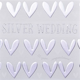 Wedding anniversary card 25   Silver wedding, 25 years