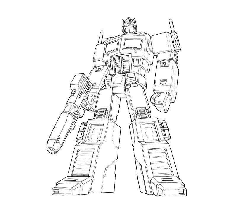 Optimus Prime Coloring Pages Printable At Getdrawingscom Free For