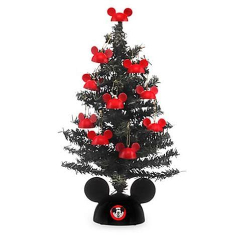 Disney Christmas Tree   Miniature Santa Mickey Tree with