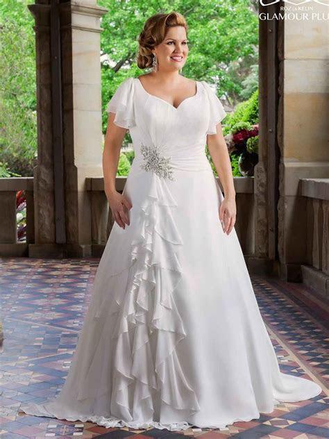 Discount Vintage Plus Size Wedding Dresses 2016 With Short