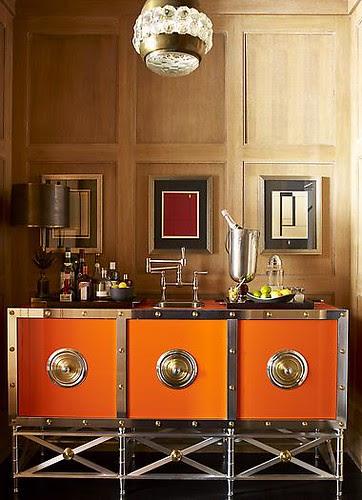 Orange Sideboard