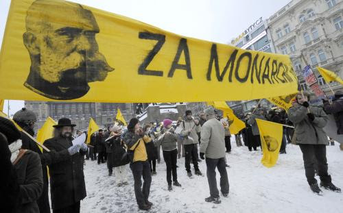 Monarchist rally in Prague