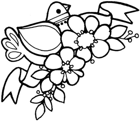 Winter Coloring Pages: Spring Flower Coloring Pages ...