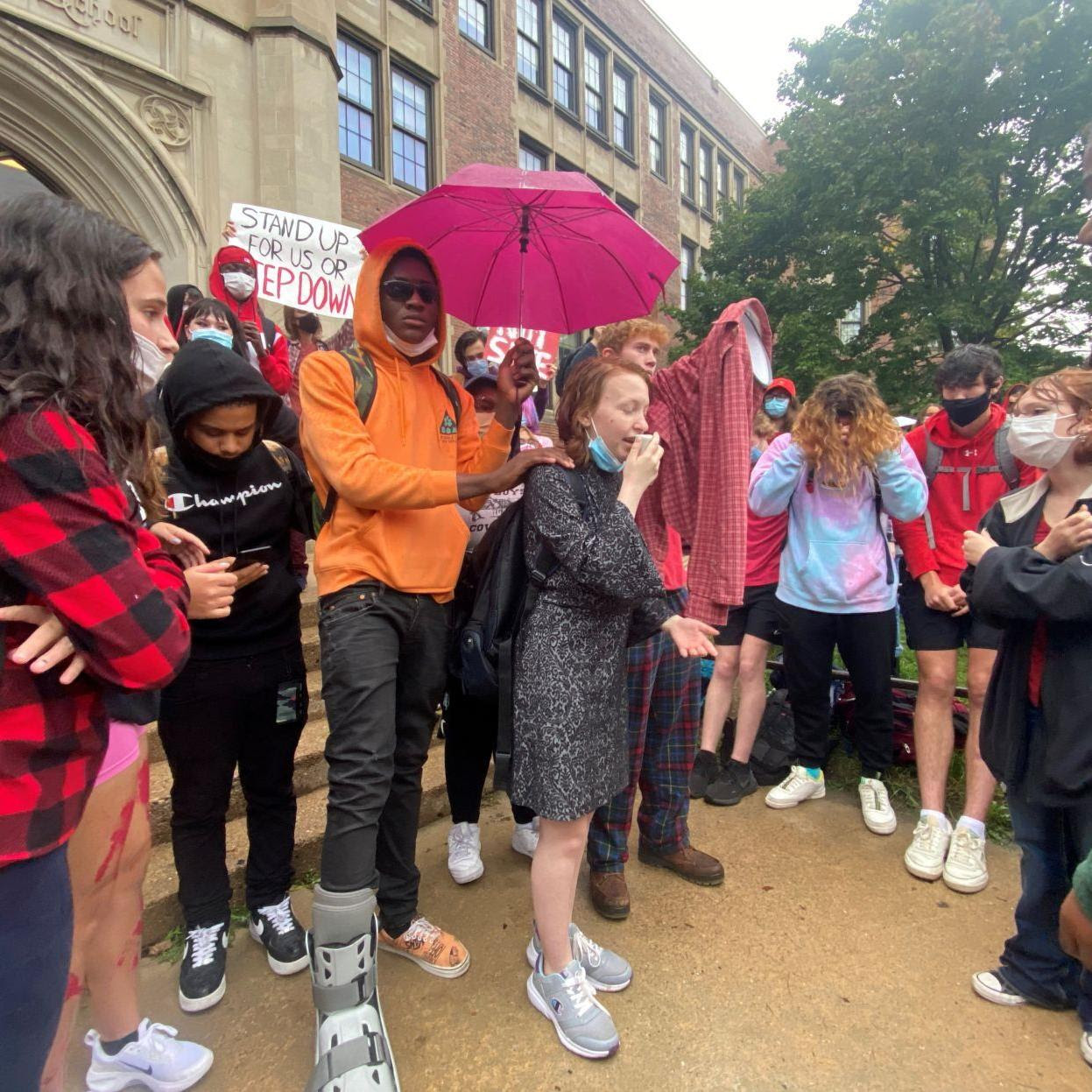 East High students call out principal, wage walkout to support survivors of sexual assault