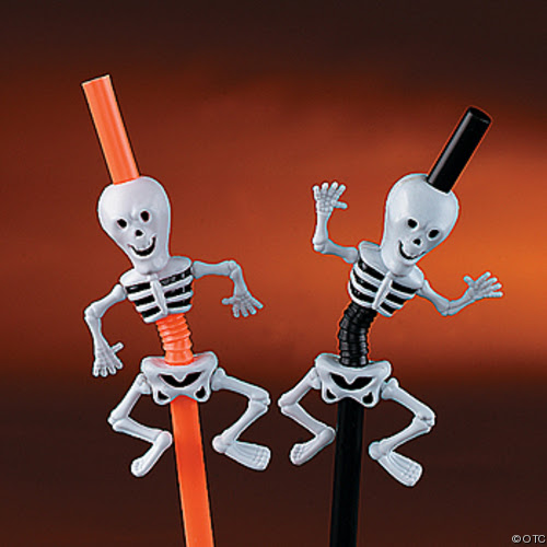 Skeleton Funny Straw