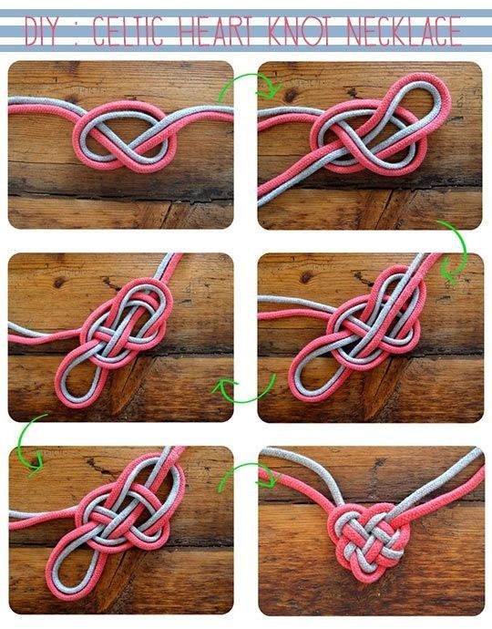 DIY: Celtic Heart Knot Necklace |