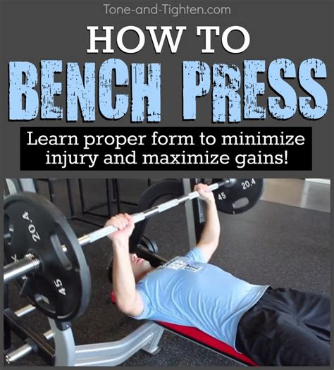 bench press correctly tone  tighten