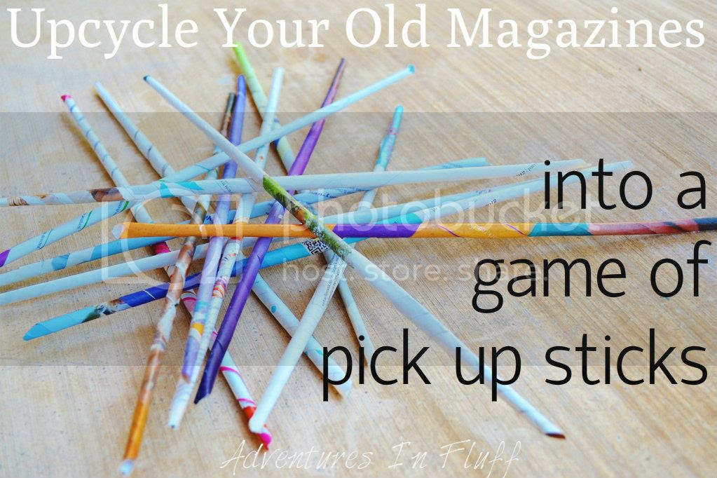 Upcycle magazines into a game of pick up sticks
