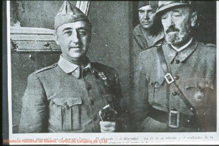 Moscardó y Franco tras la toma del Alcázar