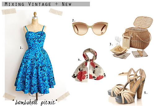 How to Wear Vintage: Bombshell Picnic