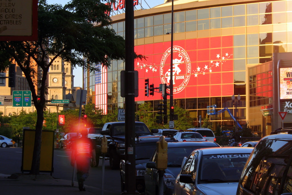 Republican National Convention at the Xcel Energy Center in St Paul, September 1-4