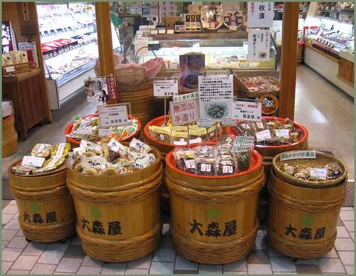 169 tsukemono barrels shelf