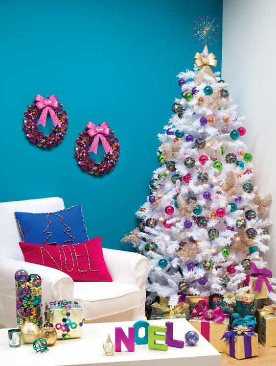 27 Rainbow Christmas Tree Decoration Ideas Christmas Celebration All About Christmas