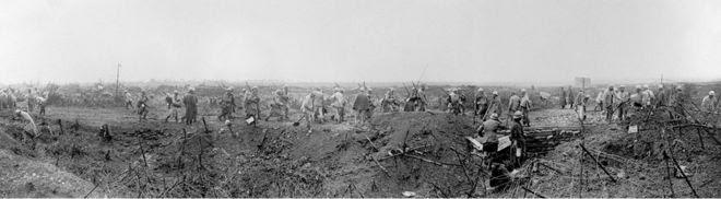 La defensa en las trincheras de Dompierre.