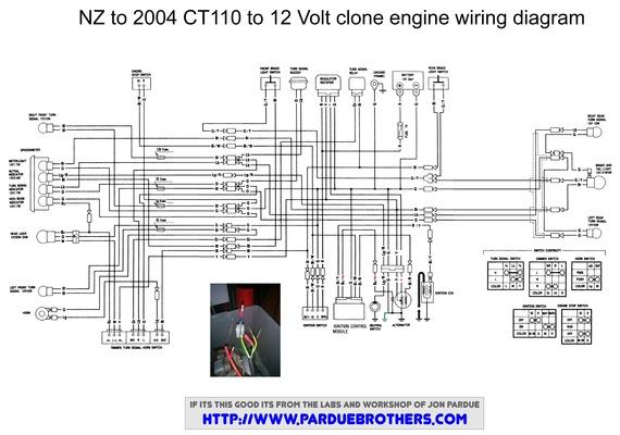 Wiring Diagram For A Lifan Conversion Honda Trail Ct90 Ct110 Forum