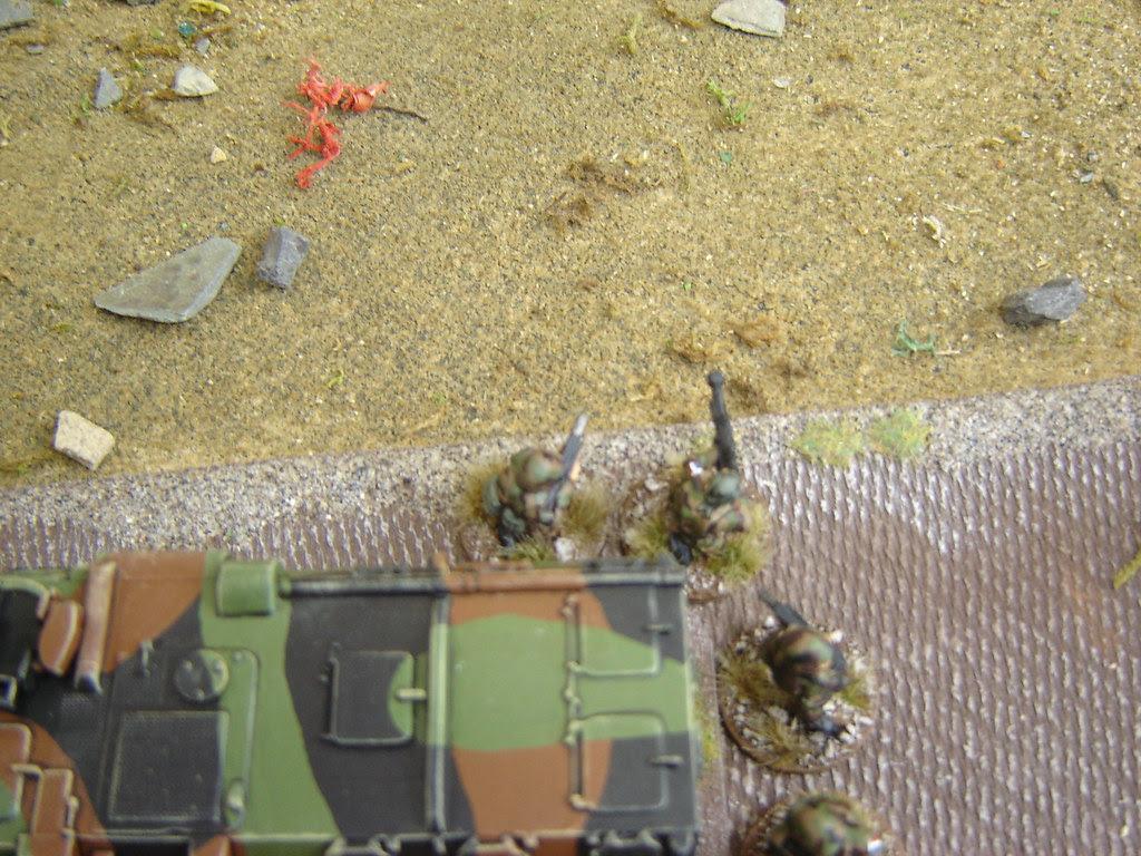 Sniper team looks for targets