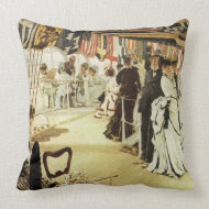 The Ball on the Shipboard throwpillow