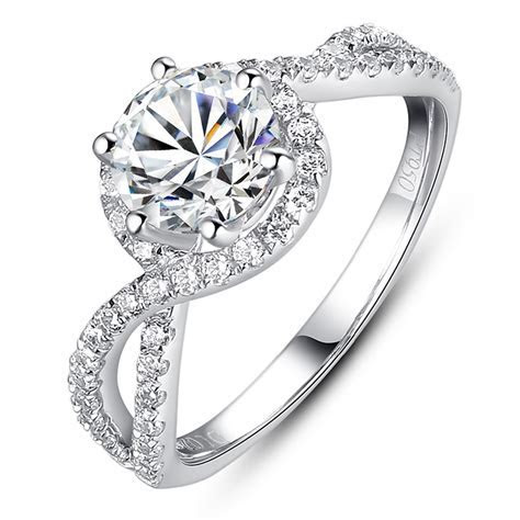 Luxury Engagement Ring 1 Carat Simulated Diamond Ring As