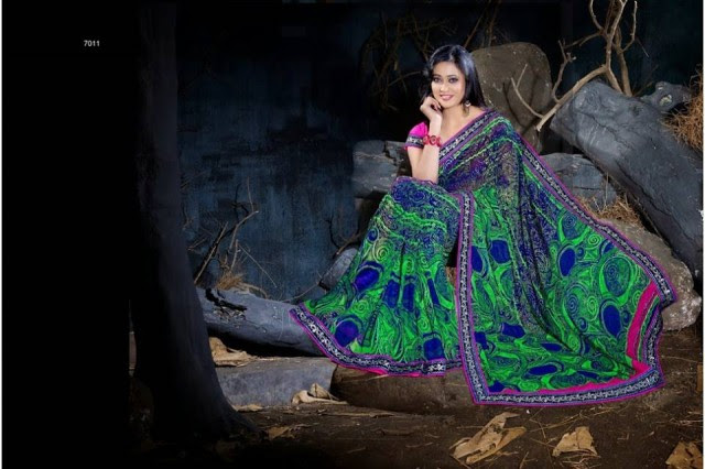 Womens-Girl-Wear-Beautiful-Sari-New-Fashion-Color-Printed-Saris-by-Prerna-Poly-Georgette-Sarees-