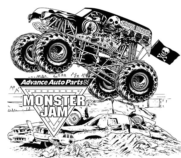 Grave Digger Coloring Pages at GetColorings.com | Free ...