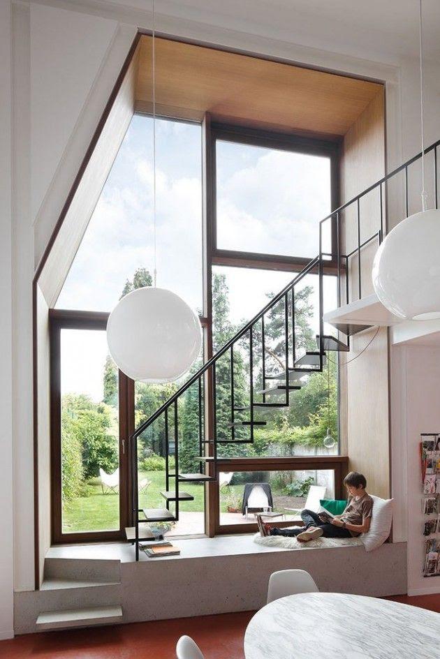NU Architectuuratelier have designed the refurbishment of a house in Leuven, Belgium.