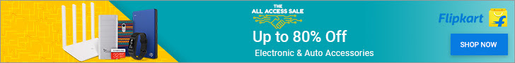 flipkart up to 80% off electronic&auto accessories
