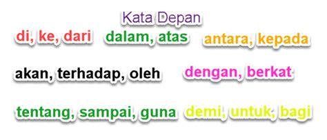 penggunaan kata depan  kalimat