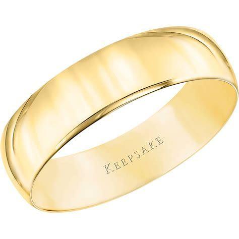 Keepsake 14kt Yellow Gold 4mm Wedding Band   Walmart.com