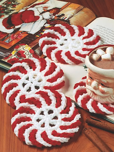Peppermint Coasters