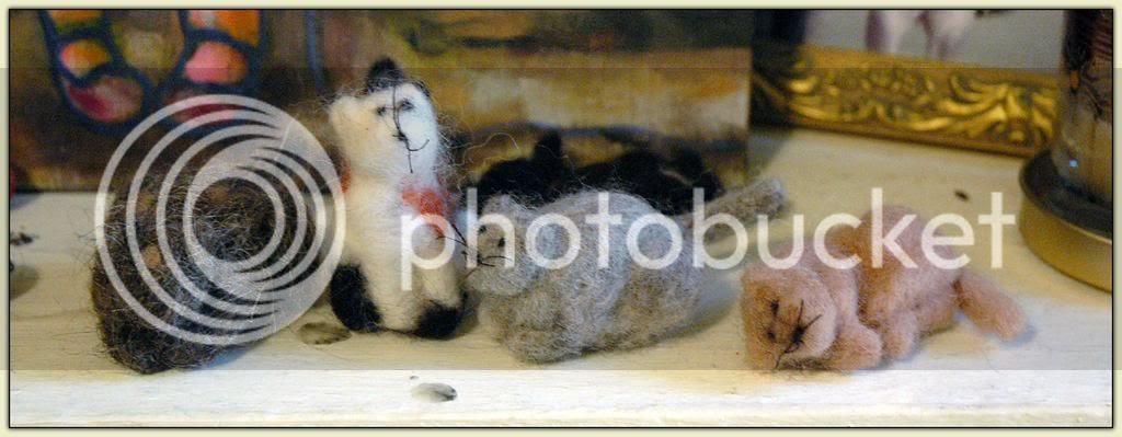 Felted Kitties