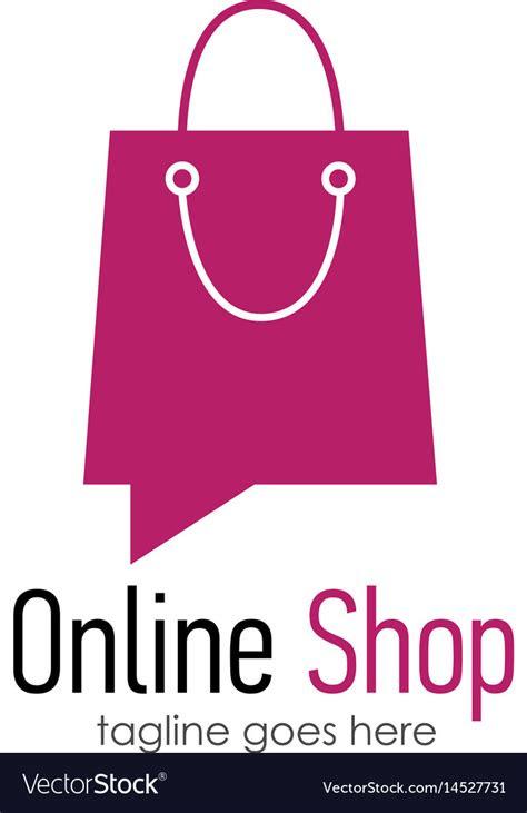 shop logo design template royalty  vector image