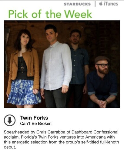 Starbucks iTunes Pick of the Week - Twin Forks - Can't Be Broken