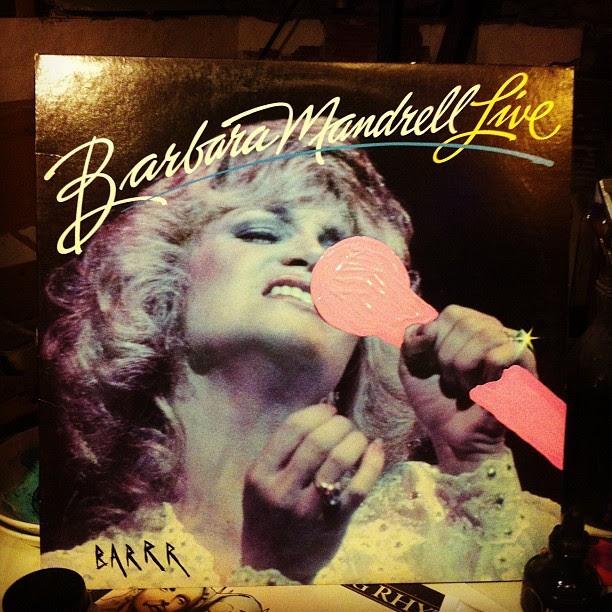 "Barbara Mandrell x BARRR ""Live w/ a pink microphone"""