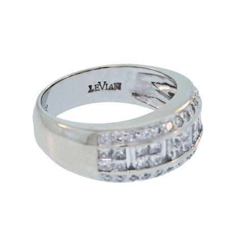 LeVian 14K White Gold 1ctw Diamond Wedding Band