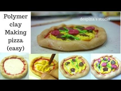 Φτιάχνοντας πίτσα και καρπούζι από πολυμερικό πηλό-Σεμινάριο 8ο