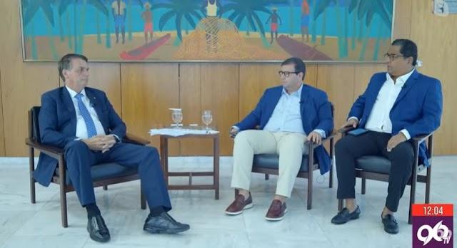 Bolsonaro concede entrevista ao Meio Dia RN